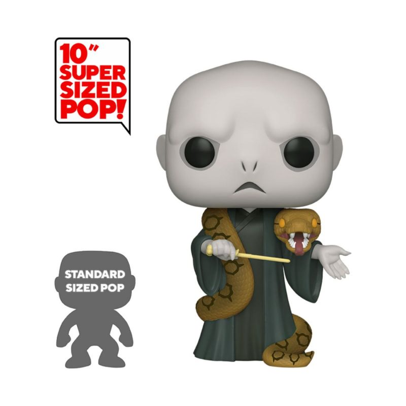 Harry Potter Super Sized POP! Movies Vinyl Figur Voldemort w/Nagini 25 cm