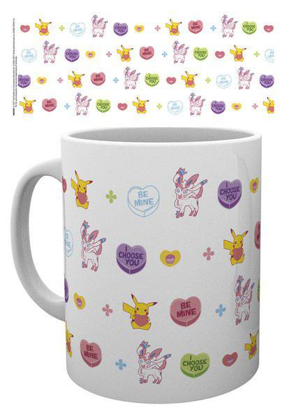 Pokemon Tasse Valentine Hearts