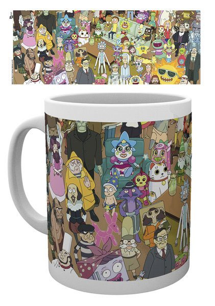 Rick and Morty Tasse Characters