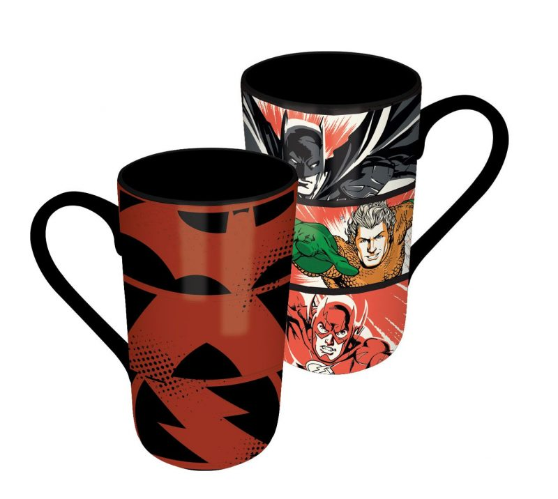 DC Comics Latte-Macchiato Tasse mit Thermoeffekt Justice League