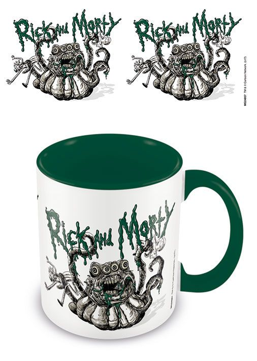 Rick and Morty Coloured Inner Tasse Monster Troubles