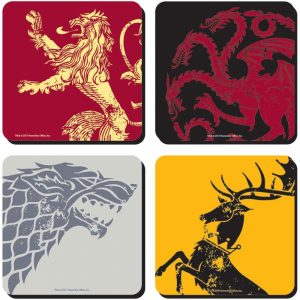 Game of Thrones Untersetzer 4-er Pack