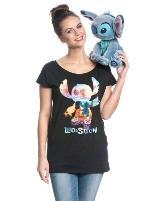 Lilo & Stitch Girlie T-Shirt On The Beach