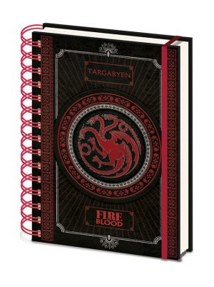 Game of Thrones Wiro Notizbuch A5 Targaryen