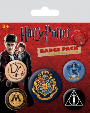 Botons de Harry Potter 5er Pack Hogwarts