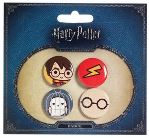 Harry Potter Cutie botons 4er Pack Harry Potter i Hedwig