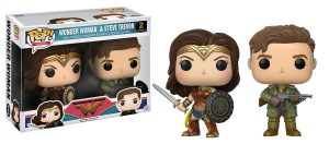 Wonder Woman Movie POP! Movies Vinyl Figuren 2er-Pack Wonder Woman & Steve Trevor 9 cm
