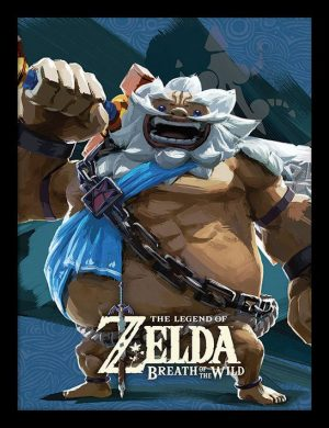 Legend of Zelda Breath of the Wild Poster im Rahmen Divine Beast Vah Rudani 45 x 33 cm