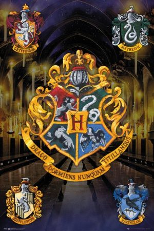 Harry Potter Poster Set Crests 61 x 91 cm (5)