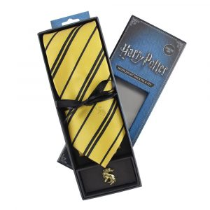 Harry Potter Tie & Pin-Up Deluxe Box Hufflepuff