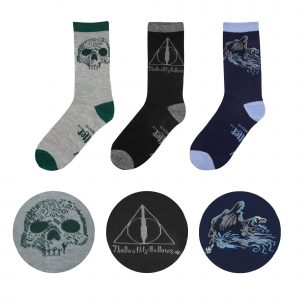 Harry Potter mitjons 3er Pack Deathly Hallows