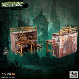 Malifaux ColorED Tabletop-Bausatz 32 mm Quarantine Zone - Outer Wall