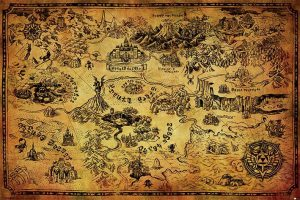 Legend of Zelda Poster Set Hyrule Map 61 x 91 cm (5)