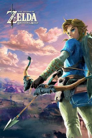 Legend of Zelda Breath of the Wild Poster Set Hyrule Scene Landscape 61 x 91 cm (5)
