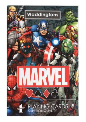 Marvel Universe Waddingtons Spielkarten Display (12) *Englische Version*