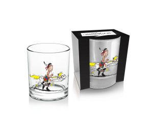 Lucky Luke Whisky Glas Luke & Jolly Jumper #1