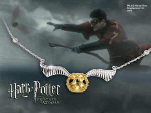 Collar d'Harry Potter amb penjoll The Golden Snitch
