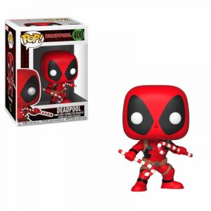 Marvel Comics POP! Marvel Holiday Vinyl Wackelkopf-Figur Deadpool (Candy Canes) 9 cm
