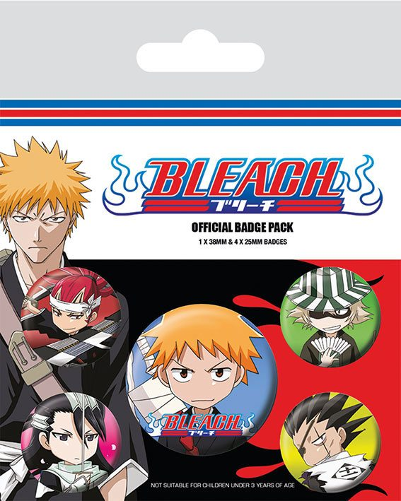 Bleach Ansteck Buttons 5er Pack Chibi Characters