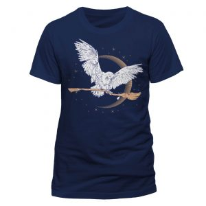 Harry Potter T-Shirt Hedwig Broom