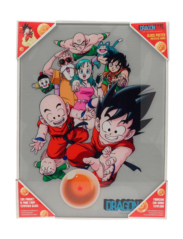 Dragonball Glas-Poster Characters 30 x 40 cm