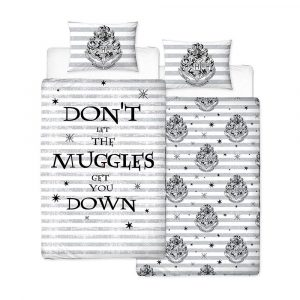 Harry Potter Reversible Bedding Spell 135 x 200 cm / 48 x 74 cm