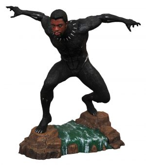 Black Panther Marvel Movie Gallery Estàtua de PVC Black Panther Desmascarat 23 cm