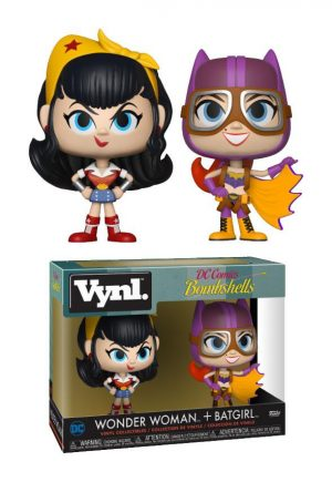 DC Bombshells Vnyl. Figurines Pack doble Wonder Woman + Batgirl 10 cm