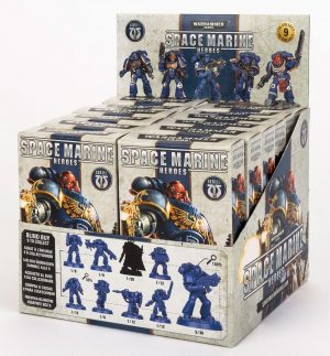 Warhammer 40.000 Miniaturen Space Marine Heroes Serie 1 Display (12)