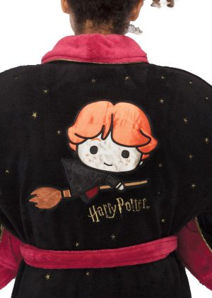 Harry Potter Girlie Fleece Barnús Kawaii Ron Weasley