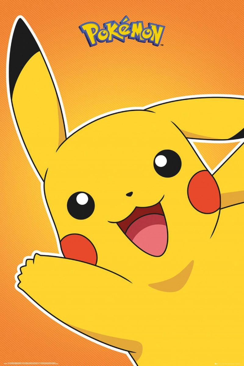 Pokémon Poster Pikachu & Evoli 61 x 91 cm Display (35)
