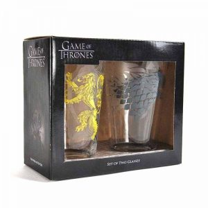 Game of Thrones Trinkgläser Doppelpack Stark & Lannister
