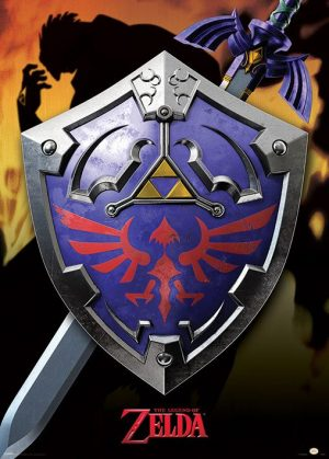 Legend of Zelda Metallic Poster Set Hylia Schild 50 x 70 cm (5)
