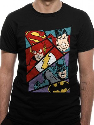 Justice League T-Shirt Heroes Pop Art