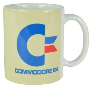 Commodore 64 Tasse White Logo