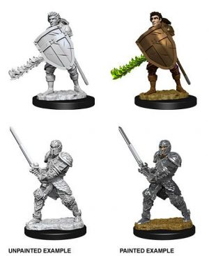 D&D Nolzur's Marvelous Miniatures Miniaturen unbemalt Male Human Fighter Umkarton (6)