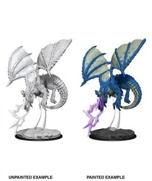 D&D Nolzur's Marvelous Miniatures Miniatur unbemalt Young Blue Dragon Umkarton (6)
