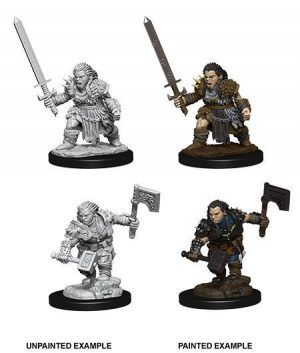 Pathfinder Battles Deep Cuts Miniaturen unbemalt Female Dwarf Barbarian Umkarton (6)
