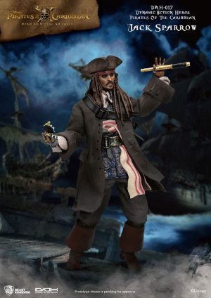8 Pirates of the Caribbean 1ction Heroes Action Figure 9/20 Jack Sparrow XNUMX cm