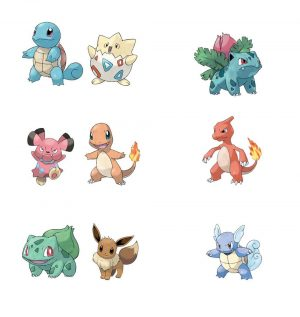 Paket Minifigure Pertempuran Pokémon 5-8 cm 6 Assortment (6)