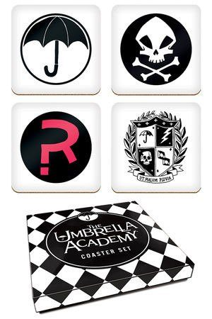 Umbrella Academy Coasters Set logotipov