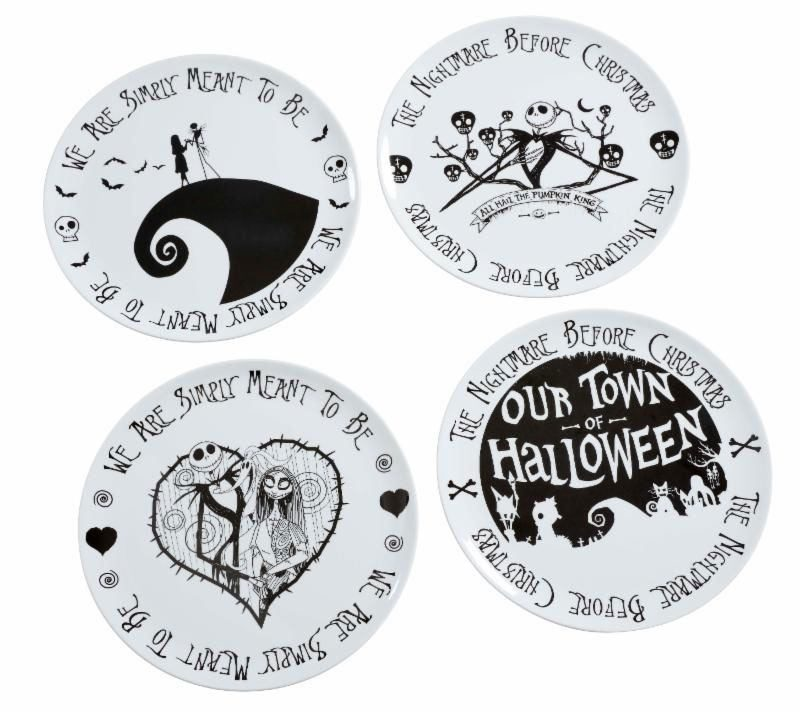 Nightmare before Christmas Teller 4er-Pack We Are Simply Meant to Be