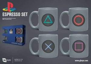 PlayStation Espresso Cups ، 4 پيڪ بٽڻ