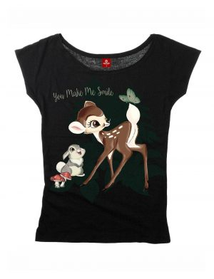 Bambi Girlie Loose T-Shirt Smile