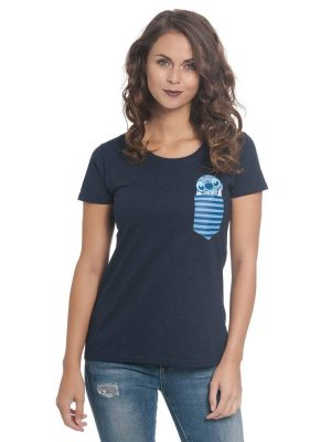 Lilo & Stitch Girlie T-Shirt Pocket Stitch