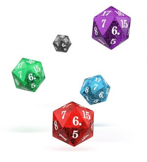 Oakie Doakie Dice W20 Spindown-Würfel Set Speckled (5)
