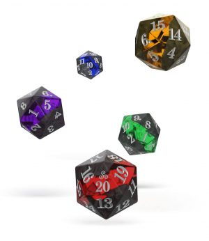 Oakie Doakie Dice W20 Spindown-Würfel Set Enclave (5)