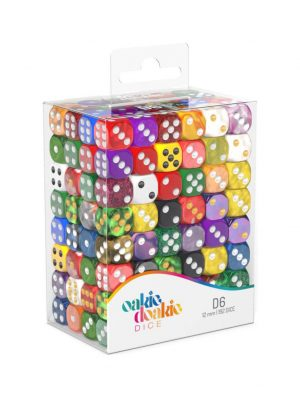 Oakie Doakie Dice W6 Würfel Retail Pack 12 mm Mixed (192)