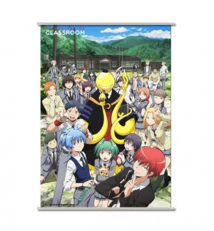 Rouleau mural Assassination Classroom Koro & Students 90 x 60 cm