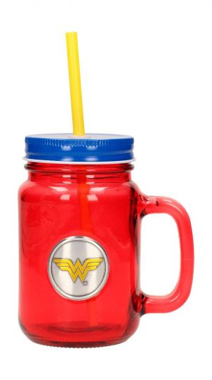 DC Comics logotip Mason Jar Glass Wonder Woman